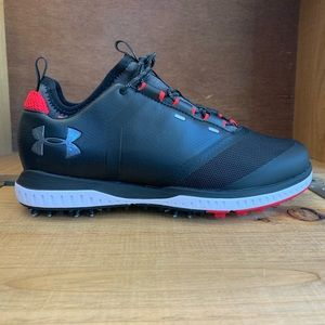 Under Armour Tempo Sport 2 Golf Shoes Black Red